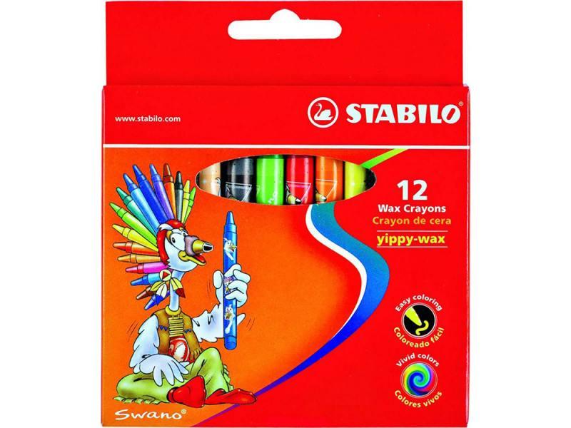 Восковые мелки Stabilo 2812 12 штук 12 цветов от 3 лет