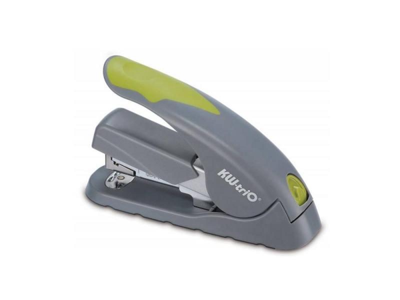 Степлер KW-trio 5618gr/green Soft-touch до 40 листов скобы 24/6-24/8 26/6 26/8 100 скоб серо-зеленый
