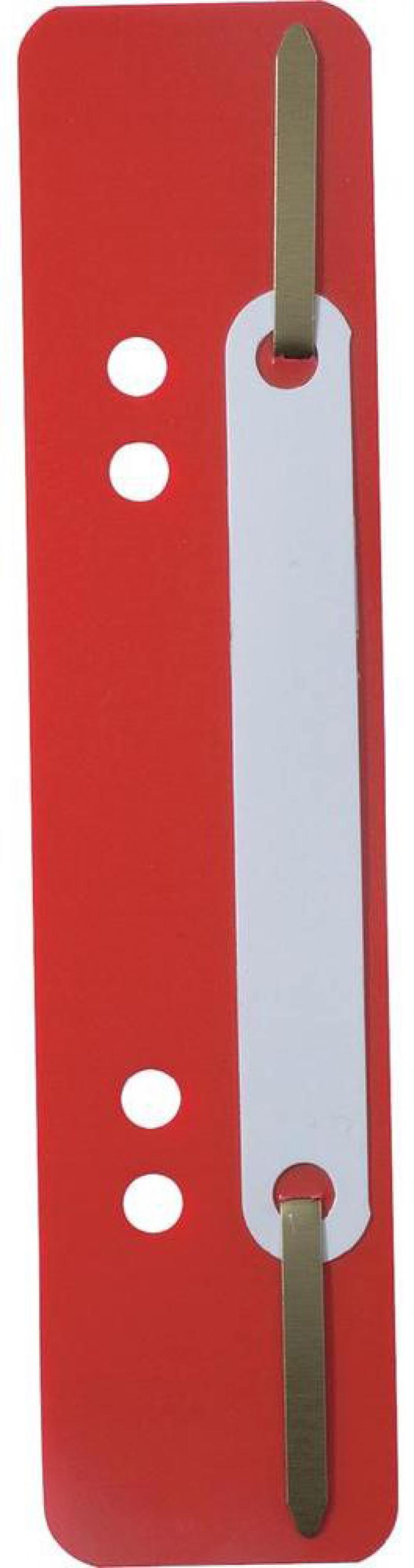 Скоросшиватель Durable вставка красный 250шт 690103