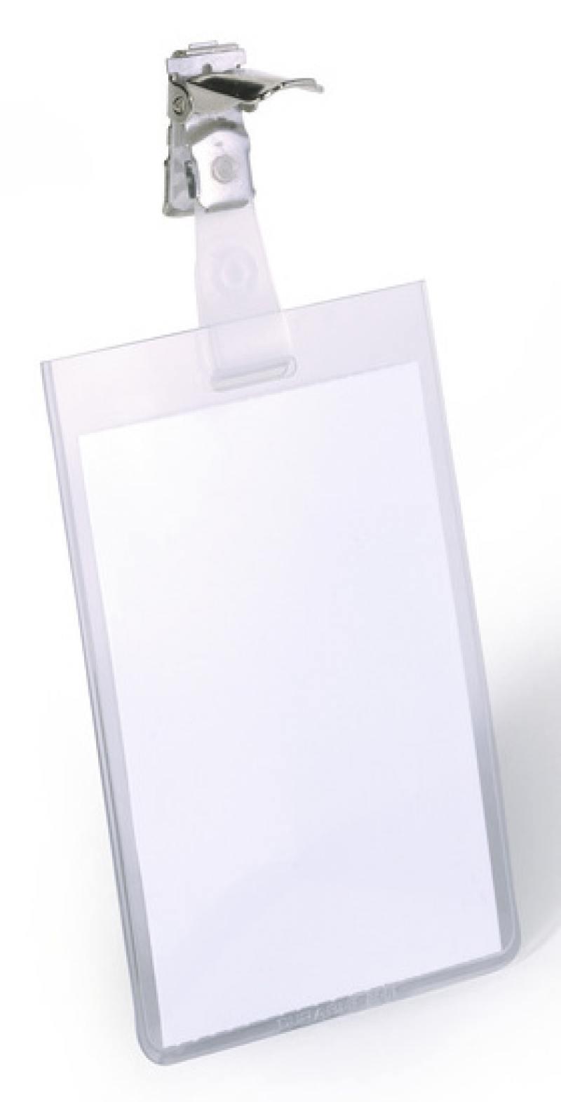 Бейдж Durable вертикальный 90x60мм с вращающимся клипом 25шт 800219 бейдж durable 8002 19 90х60мм вертикальный зажим вращающийся пвх прозрачный упак 25шт
