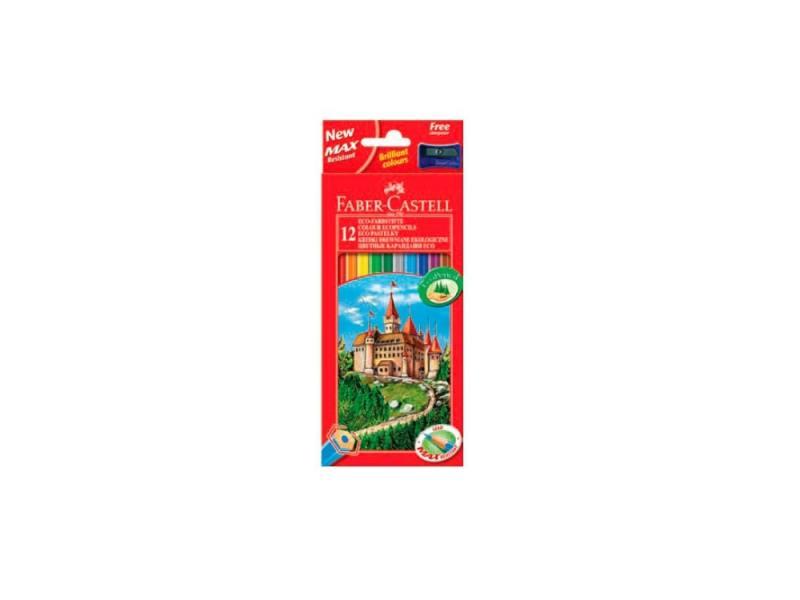 Карандаши цветные Faber-Castell Eco Замок 12 цветов с точилкой 120112 карандаши цветные be be 12 цветов с точилкой 466500