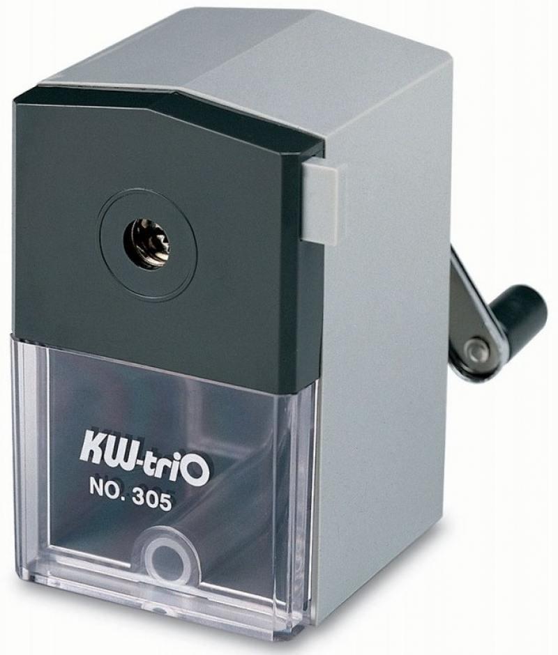 Точилка механическая KW-trio пластиковый корпус серый 305Agr kw trio 50 lb