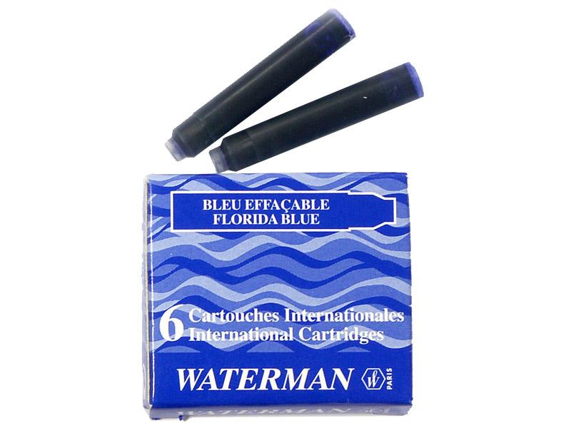 Картридж Waterman International Cartridge синий 52012 6шт S0110950 ручка waterman s0952360