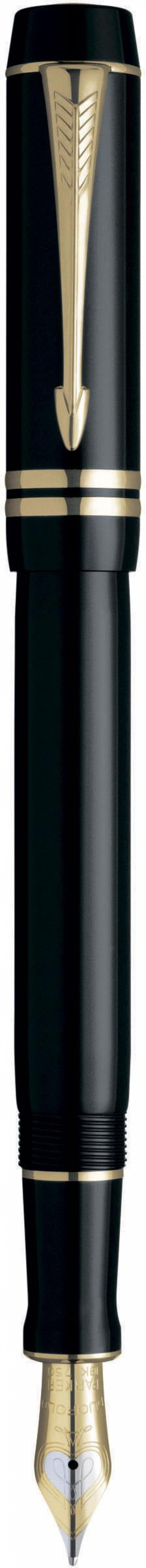Ручка перьевая Parker Duofold F77 перо F черный S0690330 parker перьевая ручка parker parker s0690560