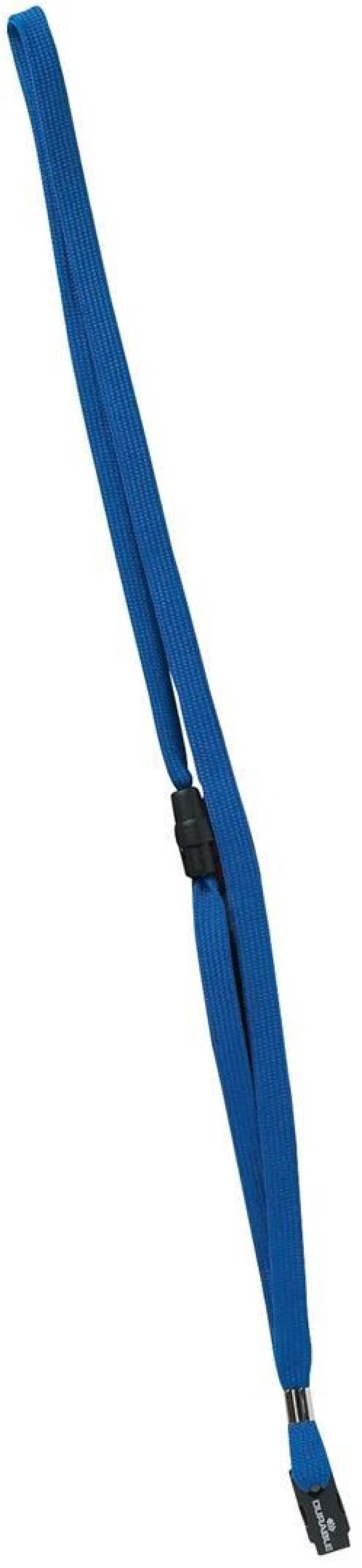 Шнур текстильный для бейджей Durable длина 44см синий 10шт 811907