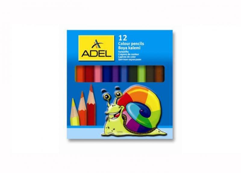 Карандаши цветные Adel Colour 3мм 12 цветов 211-2325-000