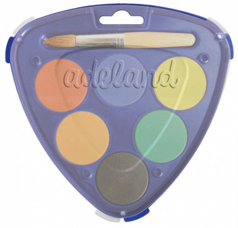 Краски акварельные Adel ADJUMBO 40мм 6 цветов 229-0935-000 краски herlitz краски акварельные 6 цветов