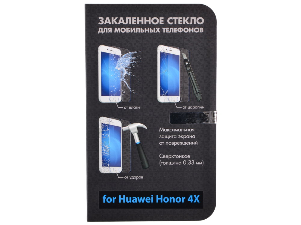 все цены на  Закаленное стекло для Huawei Honor 4X DF hwSteel-06  онлайн