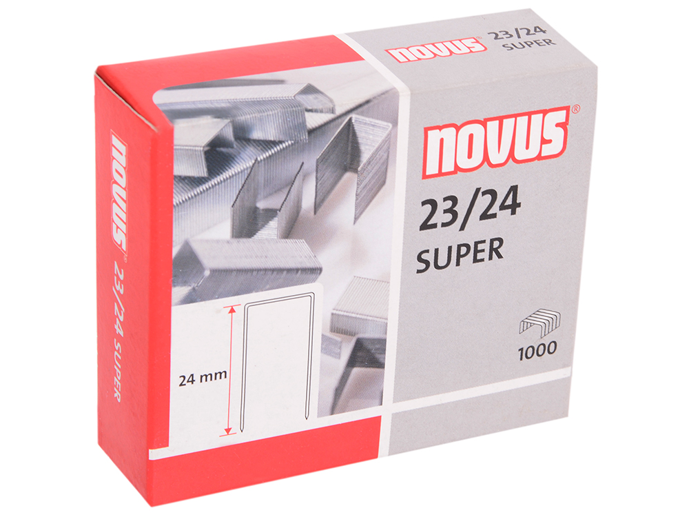 Скобы Novus 23/24 super 1000шт 042-0644