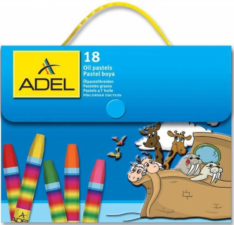 Мелки пастельные Adel 428-1818-000 18 штук 18 цветов от 3 лет 1818
