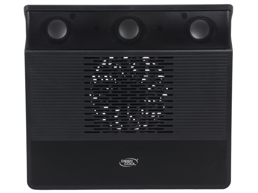 """Теплоотводящая подставка под ноутбук Deepcool M3 15.6"""" 360x327x54mm 18-21dB 2xUSB 1xMicroUSB 1100g 2.1xSpeakers Black"""