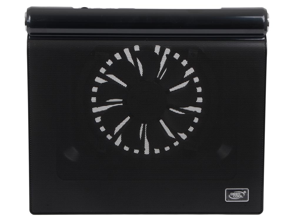 "Теплоотводящая подставка под ноутбук Deepcool M5 17"" 386x335x52mm 19-26dB 2xUSB 1xMicroUSB 1166g 2xSpeakers Blue LED Black"