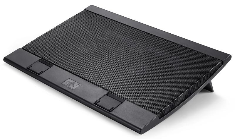 Теплоотводящая подставка под ноутбук DeepCool WIND PAL 17 382x262x24mm 22-27dB 4xUSB 793g Fan-control Black deepcool wind pal fs