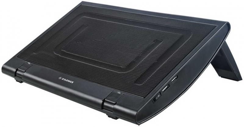 """Теплоотводящая подставка под ноутбук Xilence M600 (COO-XPLP-M600.B) 15""""/2xUSB/1x200mm FAN/Metal+Plastic/Black"""