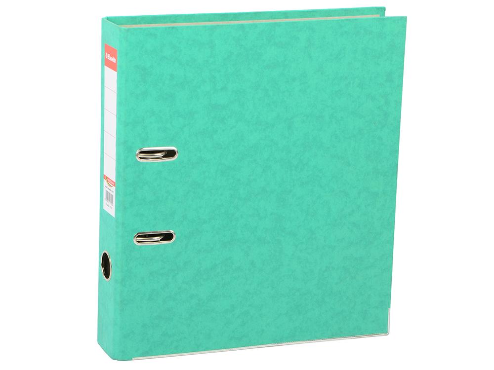 Папка-регистратор Esselte Rainbow А4 50мм картон зеленый 17922P папка вкладыш esselte 56171