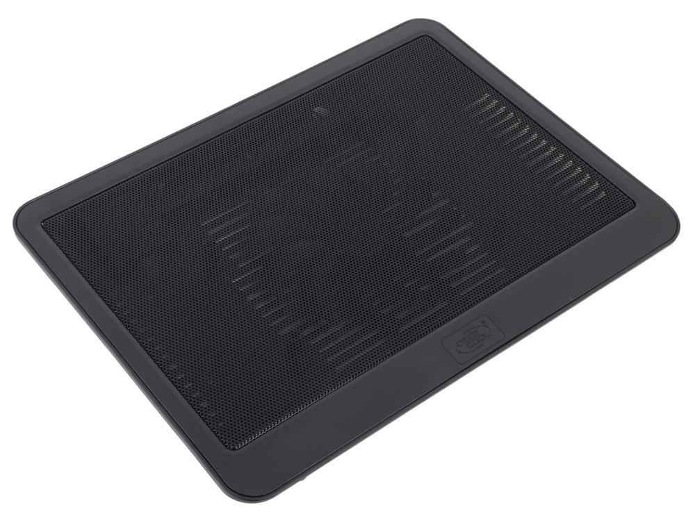 """Теплоотводящая подставка под ноутбук DeepCool N19 (до 14"""", 140мм вентилятор, черный)"""