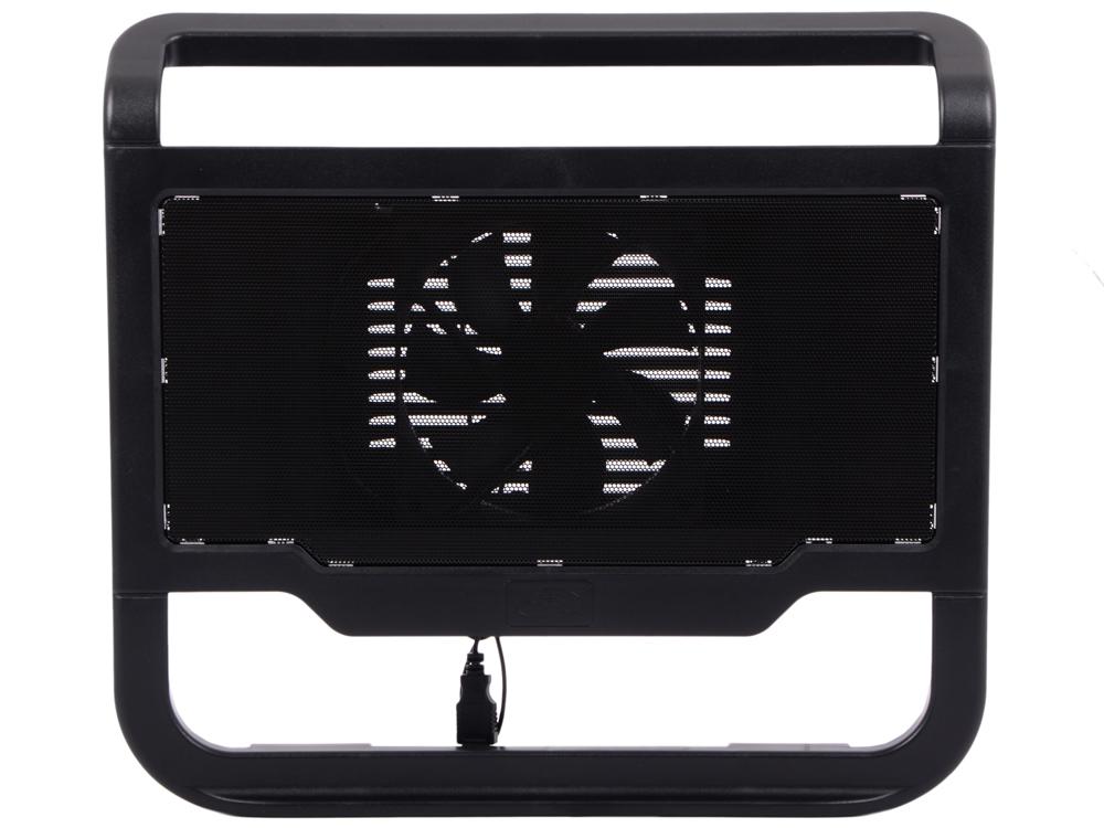 """Теплоотводящая подставка под ноутбук DeepCool N200 (до15.6"""", 120мм вентилятор, черный)"""
