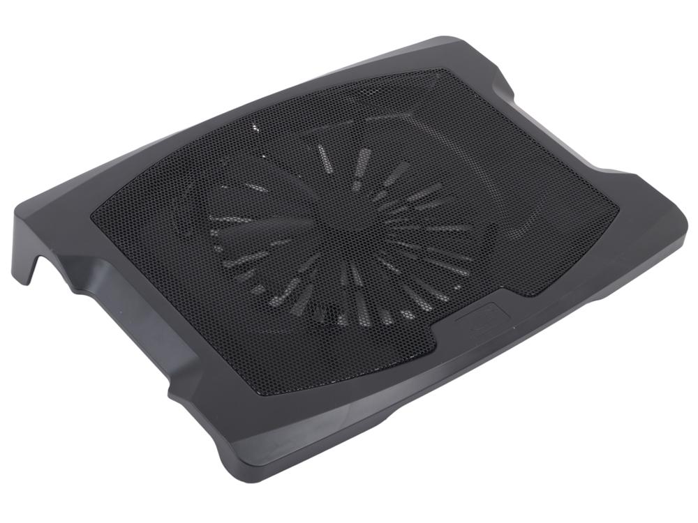 """Теплоотводящая подставка под ноутбук DeepCool N600 (до17"""", 200мм вентилятор, черный)"""