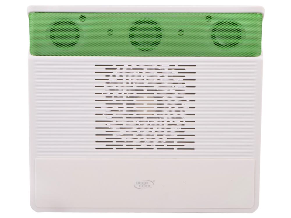 """Теплоотводящая подставка под ноутбук DeepCool M3 GREEN с 2.1 аудиосистемой (до 15,6"""", 140мм вентилятор, зеленый)"""