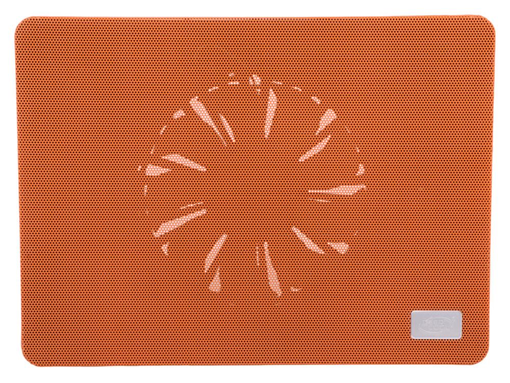 "Теплоотводящая подставка под ноутбук DeepCool N1 ORANGE (до 15,6"", cупертонкий 2,6см, 180мм вентилятор, оранжевый)"