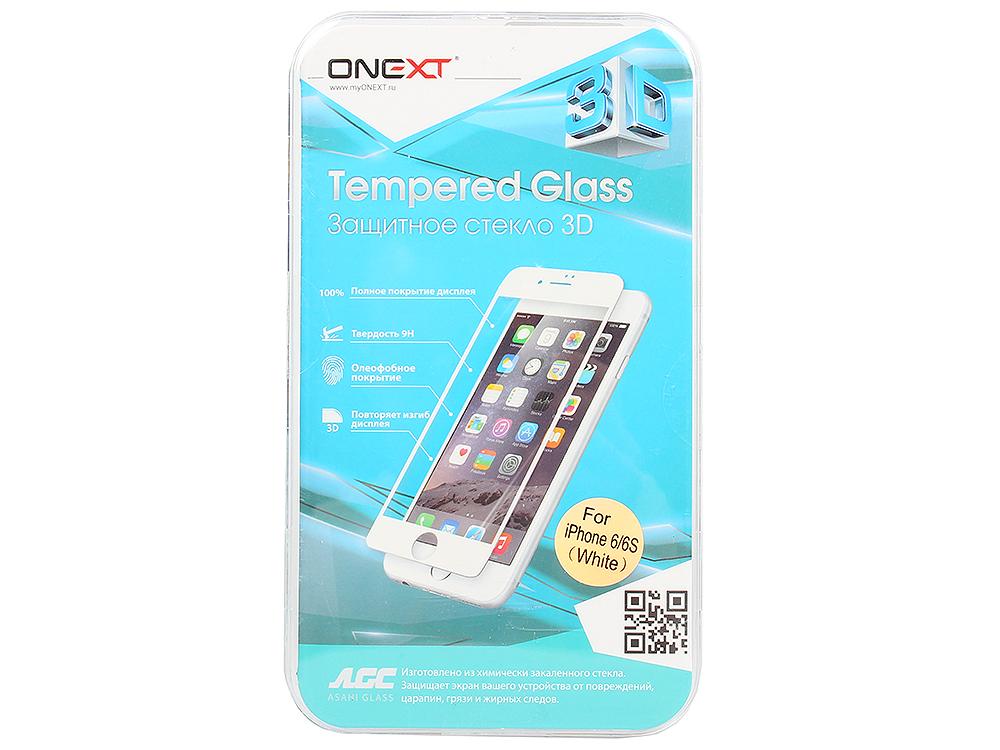 Защитное стекло Onext для телефона Apple iPhone 6 3D белое