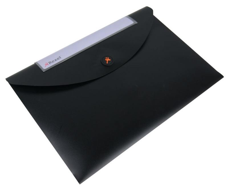 Папка-конверт Rexel Optima A4 черный 5шт 2102477 папка конверт rexel optima a4 синий 5шт 2102478