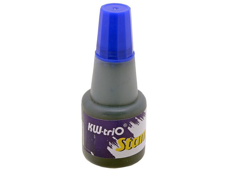 Штемпельная краска KW-trio синяя 24мл. 0290072