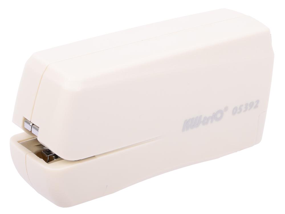 Степлер KW-trio 5392 электрический до10 листов на 4-х батарейках АА + miniUSB 100 скоб степлер электрический kw trio 5392 n10 10листов ассорти 100скоб металл пластик