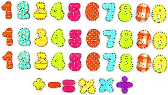 Набор магнитных цифр Wood Toys Учимся считать набор учимся считать дерево 66443