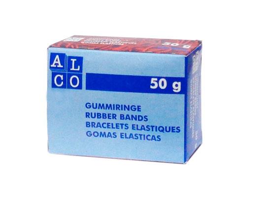 Резинки для купюр Alco 734 диаметр 65мм 50г  красный картонная упаковка