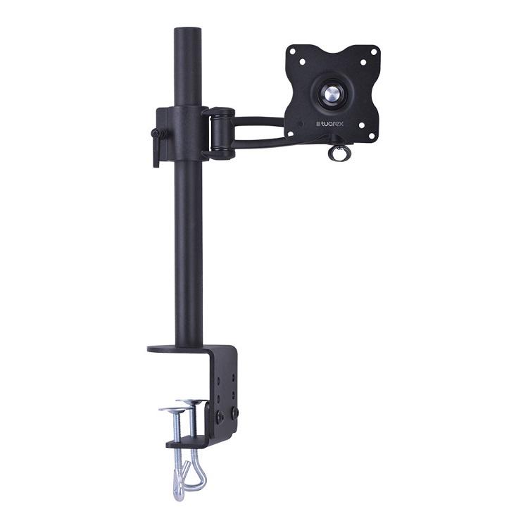 Настольный наклонно-поворотный кронштейн Tuarex ALTA-12 black, для LCD 10-26 мониторов, 3D вращение, VESA 75x75, 100x100