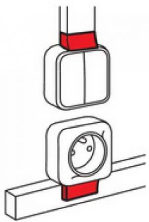 Адаптер Quteo Legrand Metra 24x14 638127 переключатель legrand quteo двухклавишный серый 782331