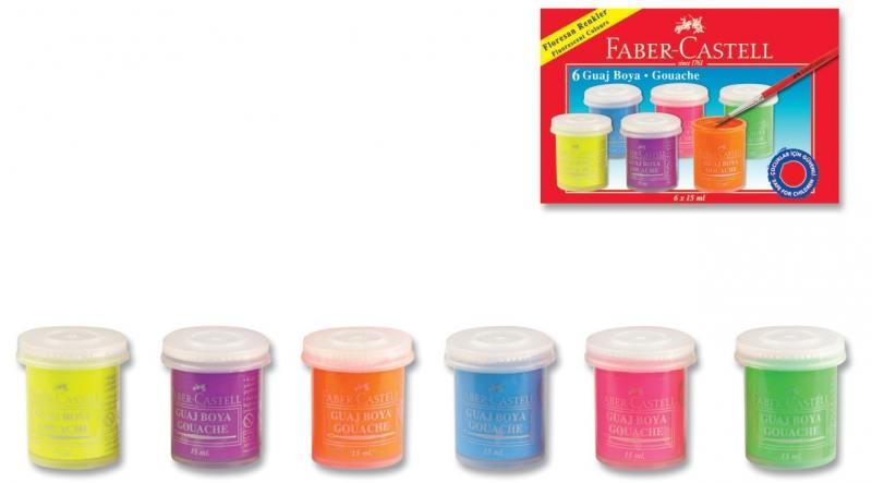 Гуашь Faber-Castell 6 цветов 160403 faber castell гуашь флуоресцентные цвета 6 шт