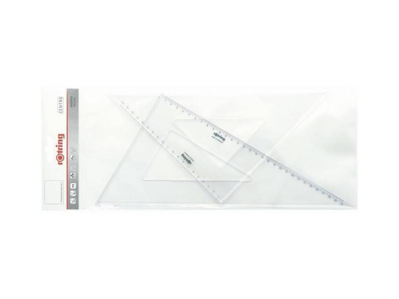 Набор Rotring Centro 2 угольника 45° длина 36 см 30°/60° длина 41 см прозрачный пластик S0237900 набор rotring centro 2 угольника 45° длина 36 см 30° 60° длина 41 см прозрачный пластик s0237900