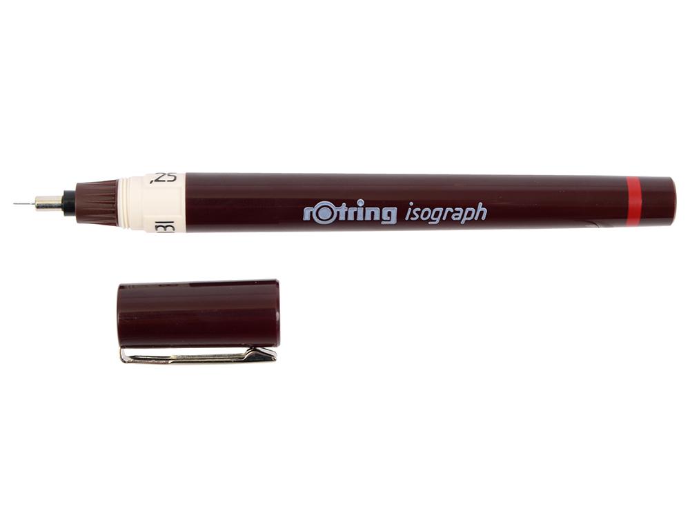 Изограф Rotring 0.25мм съемный пишущий узел/заправка тушь корпус пластик бордовый 1903398 цена и фото