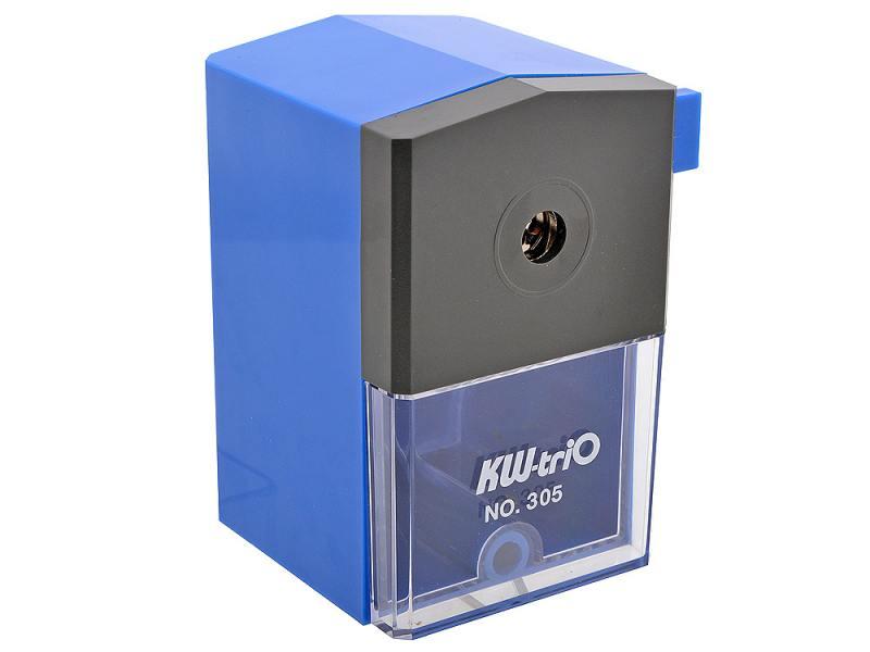 Точилка механическая KW-trio пластиковый корпус синий 305Ablu точилка для карандашей механическая kw trio 305ablu 1 отверстие 8мм пластик синий