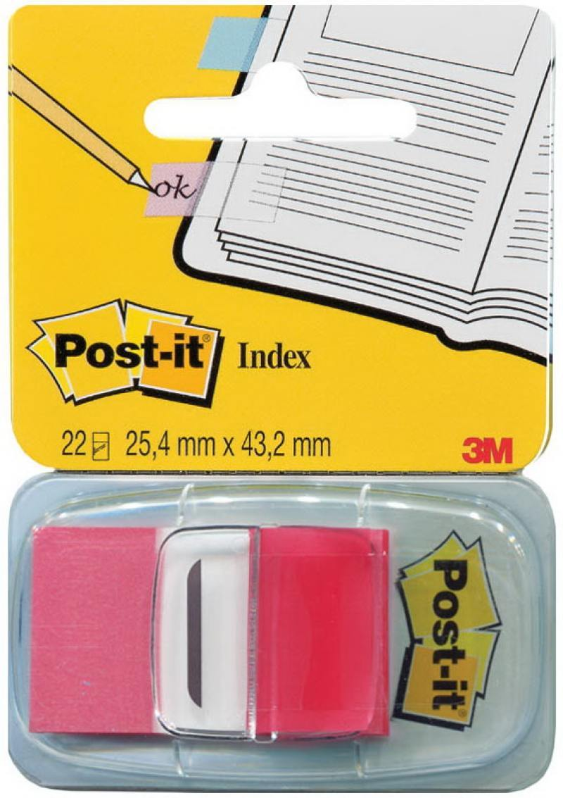 Закладки 3M Post-it 680-R-LRU 25мм 22л красный 7100030088