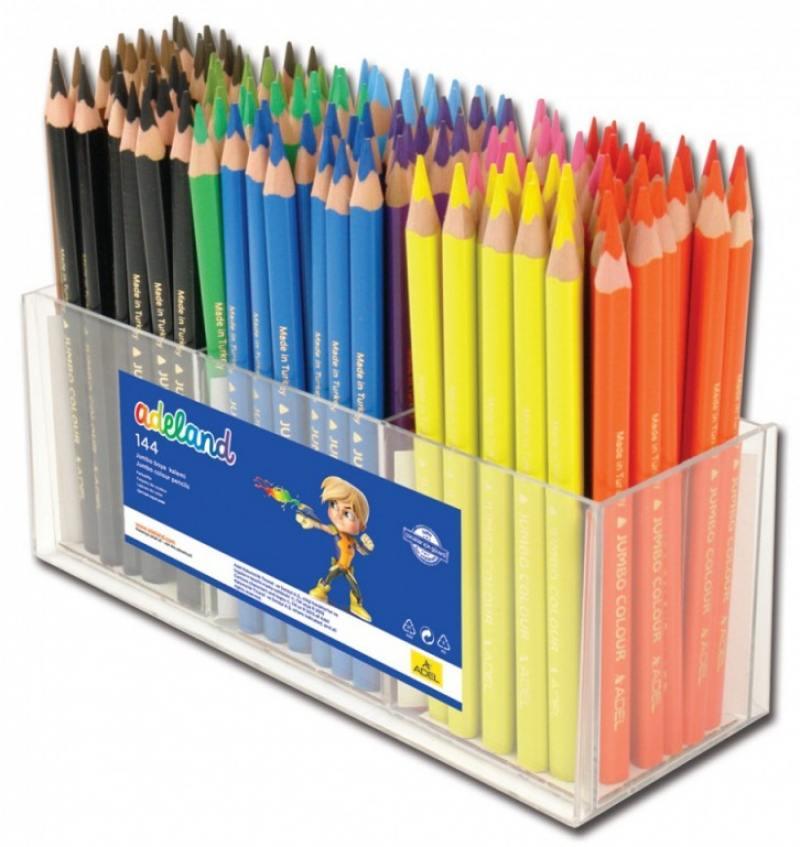 Набор цветных карандашей Adel Jumbo 12 шт 211-7510-100 набор цветных карандашей maped color peps 12 шт 683212 в тубусе подставке