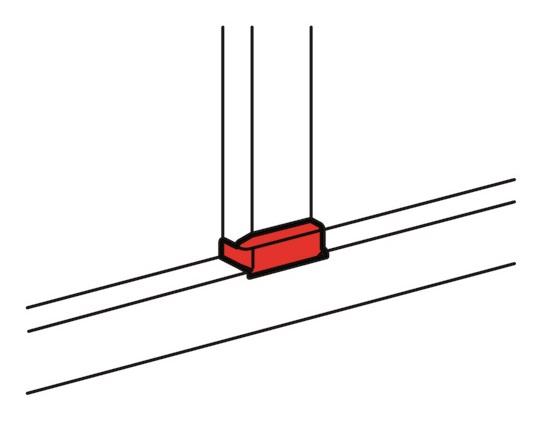 Т-отвод для кабель-канала Legrand 10737 заглушка legrand для кабель канала 40х12 5 белый 31204