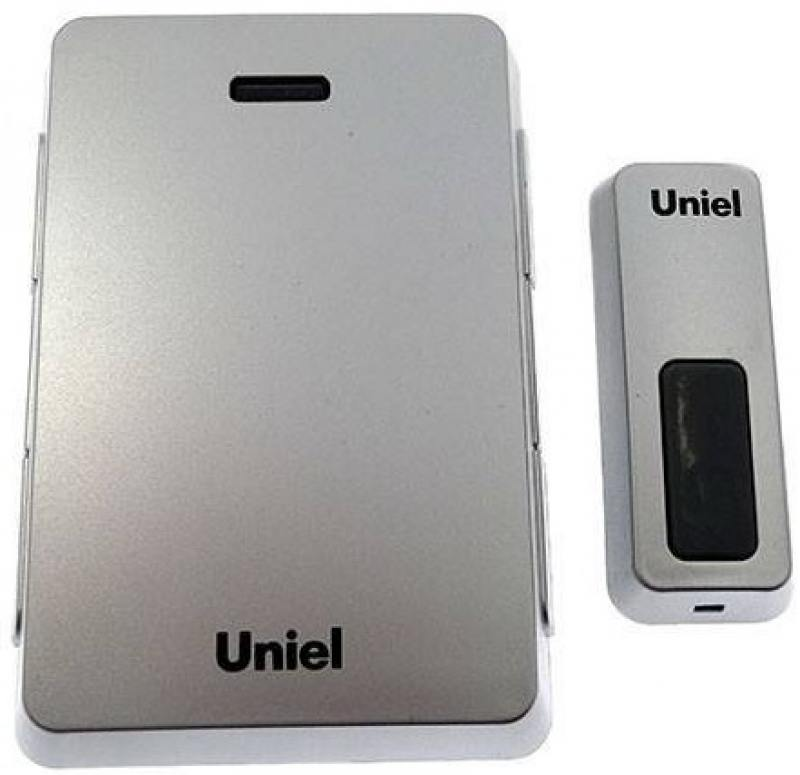 Звонок беспроводной (03612) Uniel UDB-005W-R1T1-32S-100M-SL звонок беспроводной 03610 uniel udb 005w r1t1 32s 100m ls