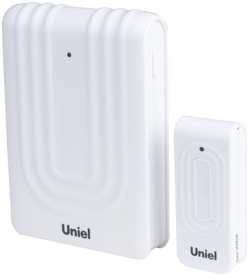 Звонок беспроводной (08317) Uniel UDB-010W-R1T1-32S-150M-WM звонок беспроводной 08318 uniel udb 011w r1t1 32s 150m wm