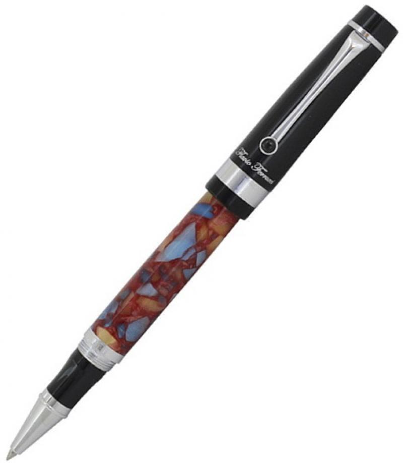 Роллер Alchimia, корпус с цветным акриловым покрытием, черн. колпачок, хромированные детали