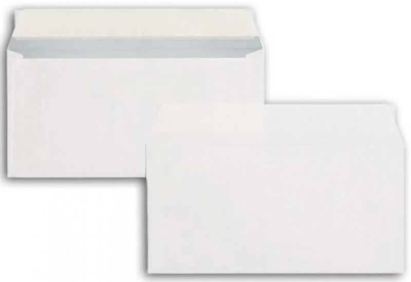 Конверт DL GARANTPOST, внут. запечатка, прям. клапан, силикон. лента, 90 г/м2, 110x220, цена за шт