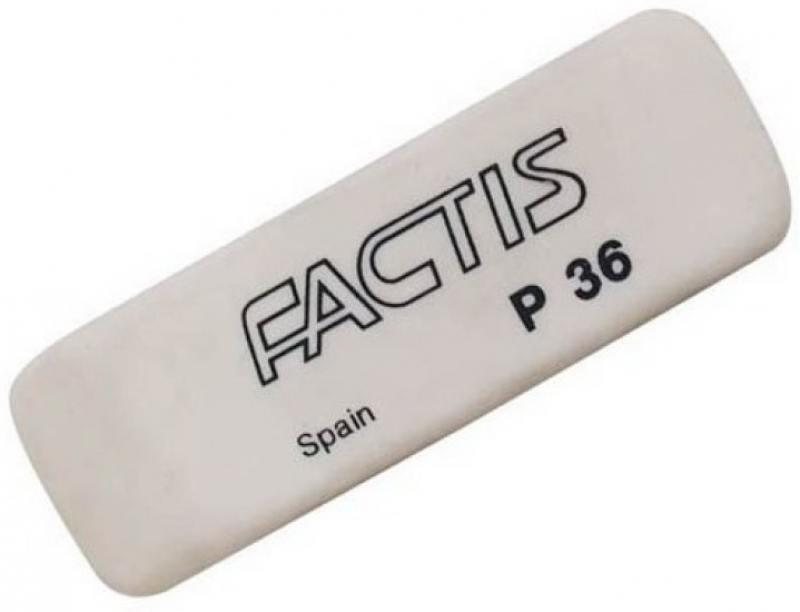 все цены на Ластики FACTIS мягкие скошенные, из непрозрачного пластика, 2 шт. в наборе, блистер онлайн