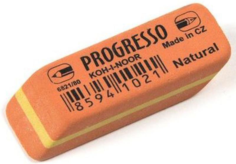 Ластик PROGRESSO, для чернографитныз карандашей набор карандашей koh i noor progresso 6 штук