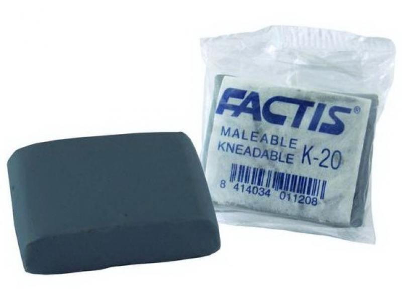 все цены на Ластик FACTIS очень мягкий из натурального каучука для грифеля тв. В-6В, размер 37,2х28,5х10,2 мм онлайн