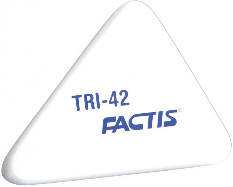 Ластик FACTIS мягкий, треугольный из синтетического каучука, размер 50х41х9 мм цена