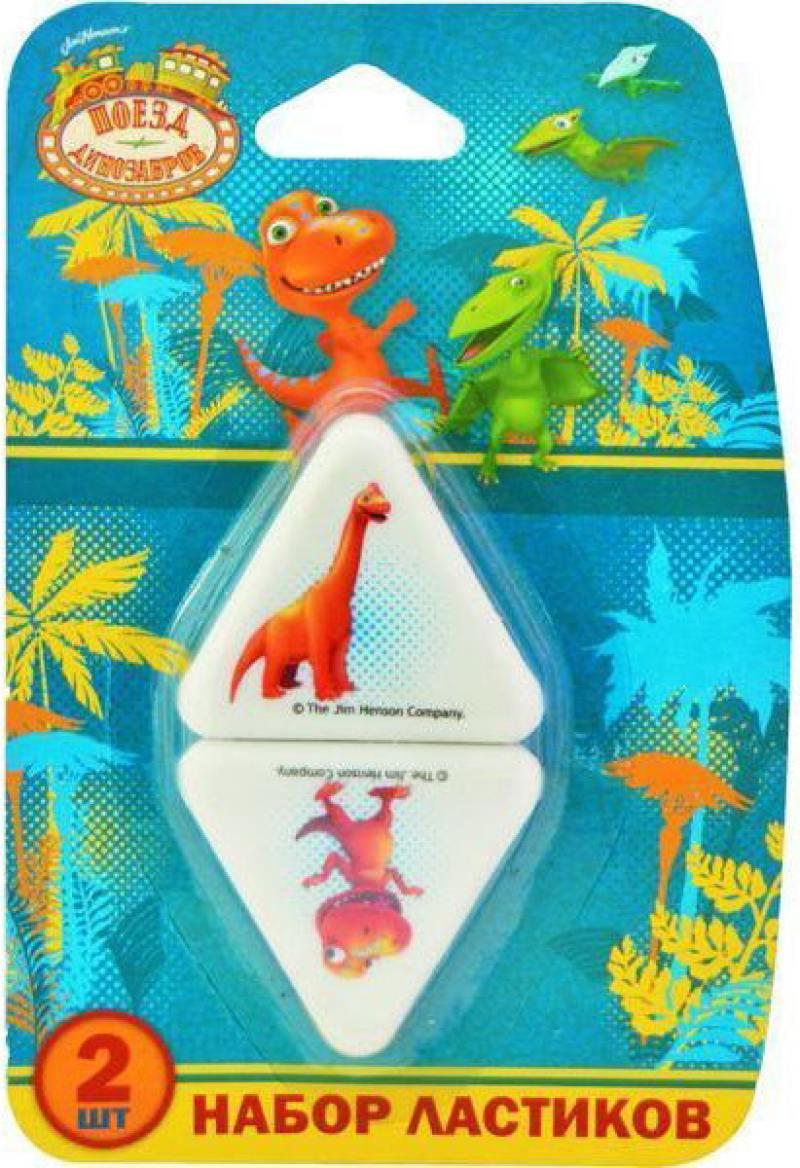 Набор ластиков action! поезд динозавров, 2