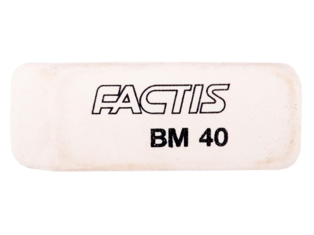 Ластик FACTIS мягкий скошенный, из натурального каучука, размер 52,5х19,5х8,5 мм milan ластик 860 скошенный