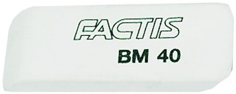Ластик FACTIS мягкий скошенный, из натурального каучука, размер 52,5х19,5х8,5 мм
